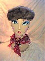SOLD - Beautiful Faux Fur Hat