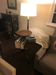 SOLD - Vintage Lamp w/ Stand