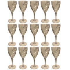 SOLD!! Set of 15 Rare Baccarat Genova White Wine Glasses