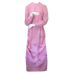 "Vintage Pink Champagne ""the Vested Gentress"" Novelty Cockatoo Dress"