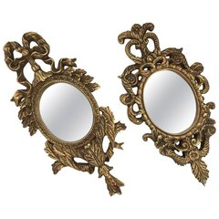 SOLD!! Pair of Compatible French Baroque Gilt Mirrors