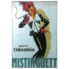 "Art Nouveau Giclee Print of ""Mistinguett"" Wall Art"