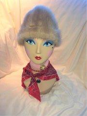 SOLD - Light Faux Fur Hat