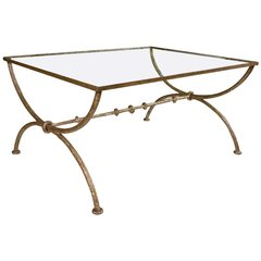 ON HOLD! Diego Giacometti Style Wrought Iron Coffee or Low Table