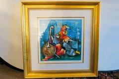 David Schluss Banjo Song 172/350 Serigraph- Fantastic Colors Signed