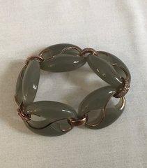 Cristina Sabatini Silver and Crystal Encrusted Bracelet