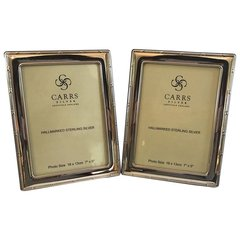 """SOLD - Sterling Silver Frame's Carrs of Sheffield """"Reed & Ribbon"""" Frame"""