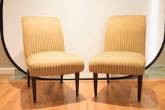 air of High Quality Viennese Biedermeier Style Art Deco Flare Slipper Chairs