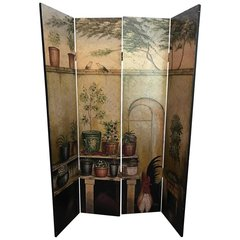 SOLD!! French Cafe Room Divider, French Country Design and Colors, Cock a Doodle Doo