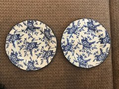 Wood & Sons - Set of 2 'Colonial Rose' Blue Salad Plate England