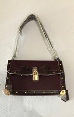 Burgundy Louis Vuitton Studded Handbag