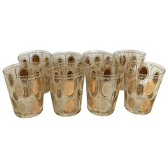"""Set of Eight Fabulous Vintage Glassware Depicting a Mix of """"European Queens"""""""