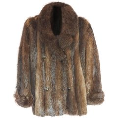 SOLD !! Long Haired Beaver Jacket, Beautiful Colors, Great Condition