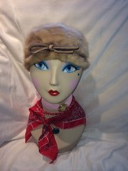 SOLD - Faux Fur Hat with Bow