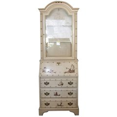Petite Vintage Chinoiserie Secretary or Cabinet, 1950