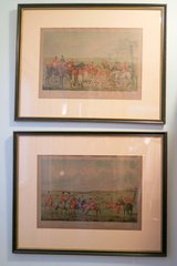 Henry Alken - The Meeting and The Death Etchings Beautifully Framed and Matted