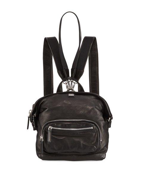 Designer In München mcm nwt biker black leather dual transformer backpack shoulder bag
