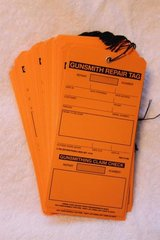 Gunsmith Repair Tags with Claim Check 500 pieces (10 packs of 50)