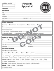 713 FIREARMS APPRAISAL PAD (50 SHEETS HEAVY STOCK DOUBLE SIDED)