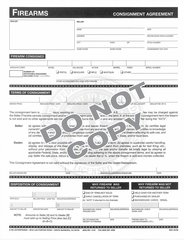 Consignment Agreement 8 1/2 x 11 Pad of 80