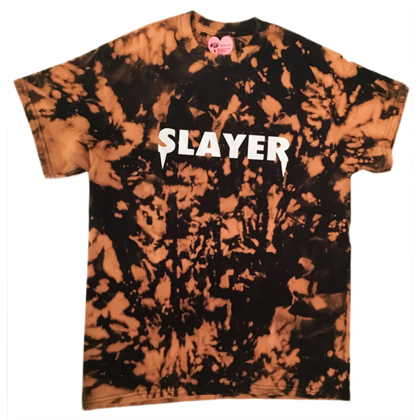Slayer T-Shirt - Bleached Black | Case Dolls