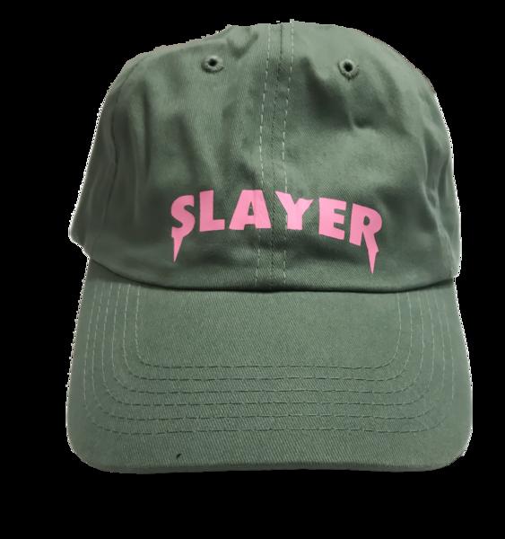 Slayer Dad Hat - Green Pink