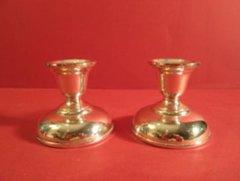 Biedermeier Silver Candlesticks