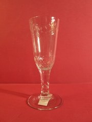 English ale glass, cut base on bowl and cut stem, ca. 1780.
