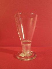 Biedermeier firing glass. Austrian or German, ca. 1750, with hollow stem on round base.