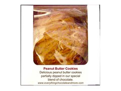 CHOCOLATE PEANUT BUTTER COOKIES (6pc.)