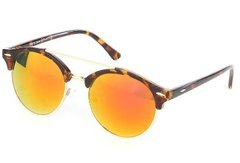 Unisex Round Bar Fashion Eyeglasses-Brown