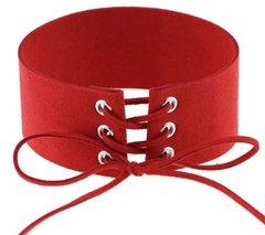 Velvet Choker-Red