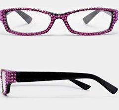 Crystal Reading Rectangular Pink Fashion Eyewear