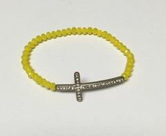 Stretch Bead Cross Bracelet
