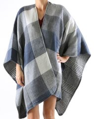 Square Scarf/Shawl/Poncho-Blue