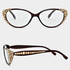 Fashion Readers Clear Half/Half-Brown/Topaz