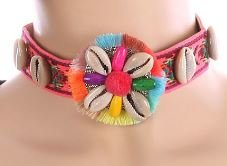Tribal Choker Pink