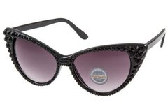 Sunglasses - Fashion Crystal Cat Sunglasses-Black