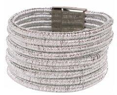 Magnetic Coil Bracelet-Silver