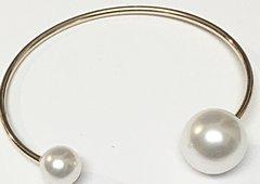 Pearl Cuff Gold Bracelets