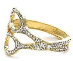Crystal Scissor Rhinestone Bracelet-Gold