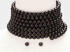 Coil Black Pearl Choker