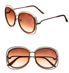 Fashion Double Sunglasses-Brown
