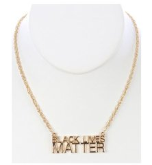 Gold Hip Hop Necklace-Black Lives Matter