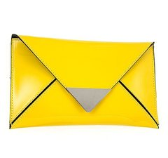Envelope Clutch-Yellow