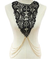 Lace Body Chain Necklace-BK
