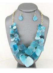 Tortoise Necklace Set-Turquoise