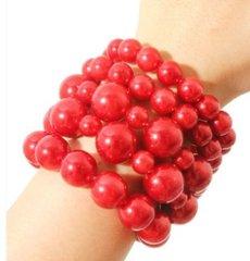 Chunky Red Bead Bracelet