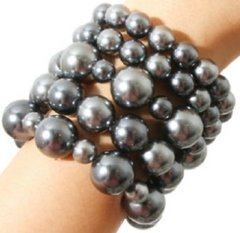 Chunky Grey Bead Bracelet