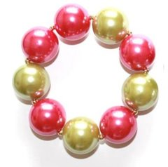 Stretch Bracelet-Pink/Green